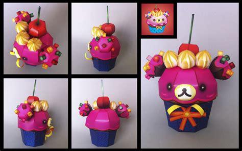cupcake paper crafts korilakkuma cupcake papercraft by ikarusmedia on deviantart