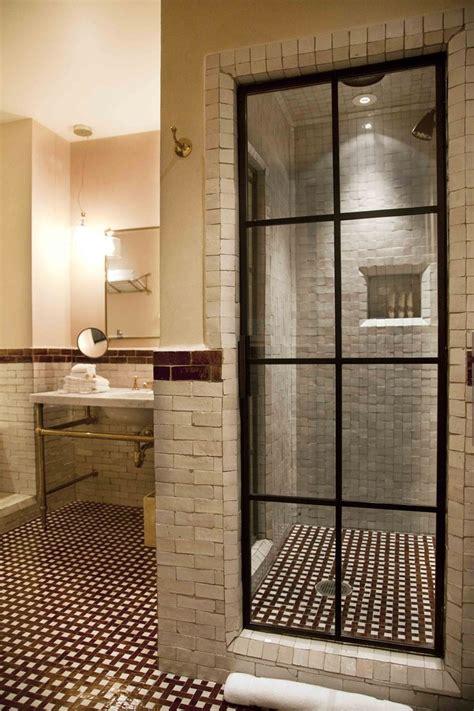 steel shower doors steel black framed paned shower door rustic handmade