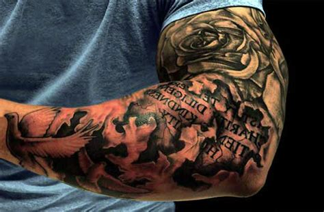 half arm photo sleeve tattoo cost design idea for men and