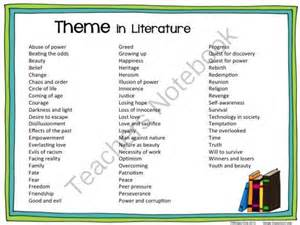 list of picture books to teach theme theme list literature from wingedone on teachersnotebook