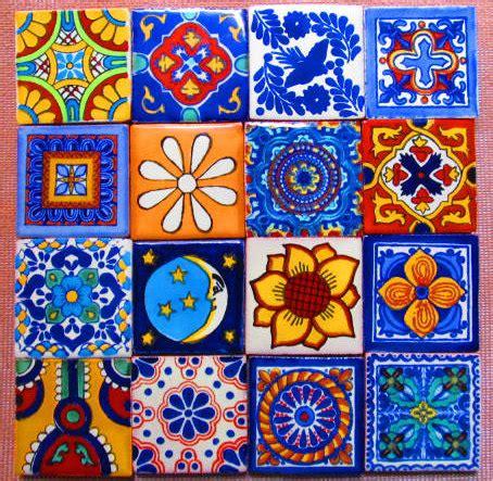 Ceramic Tile Murals For Kitchen Backsplash 16 pcs mexican tile talavera handmade talavera tile 2x2 mosaic