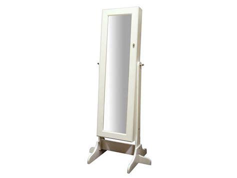 miroir coffre 224 bijoux coloris blanc vente de miroir sur pied et psych 233 conforama