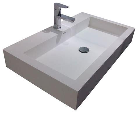 resin kitchen sinks adm adm white wall hung resin sink bathroom sinks