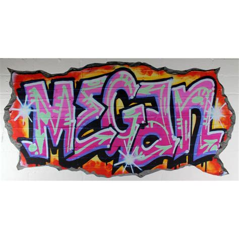 personalised wall stickers personalised pink graffiti wall stickers by nest