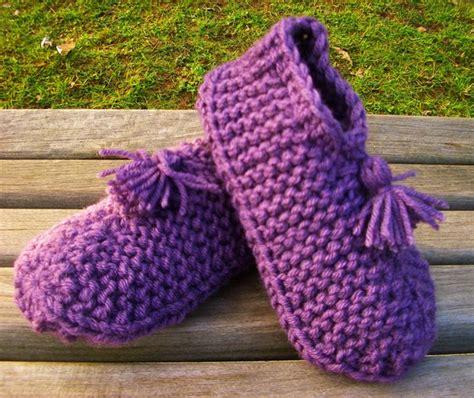 knitted bed socks free patterns slipper pattern knit patterns gallery