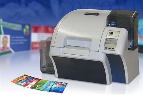 printers for card new zebra zxp series 8 re transfer card printer from ded