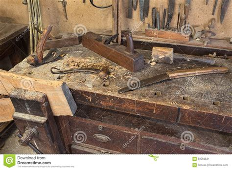 carpentry woodworking carpenter s bench stock image image of craft tool