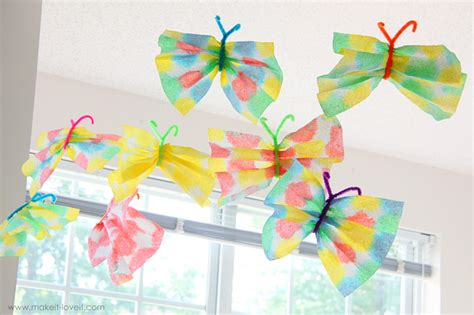 crafts with paper towel paper towel butterflies allfreeholidaycrafts