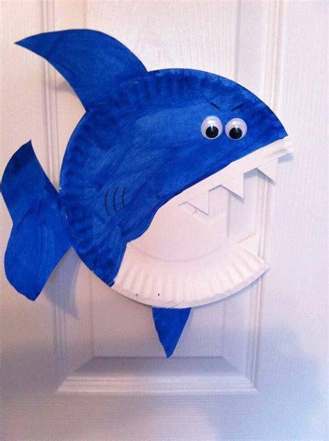 shark craft projects paper plate shark craft 171 funnycrafts