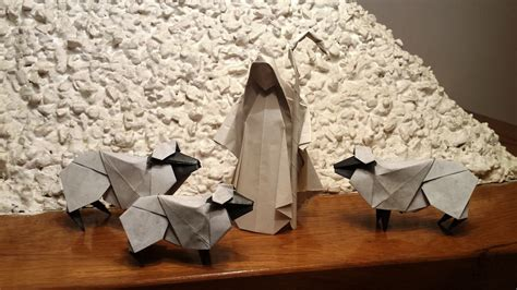 origami shepherd origami sheeps and shepherd by orestigami on deviantart