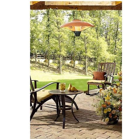 sense hanging halogen patio heater sense 60660 hanging copper finish halogen patio heater