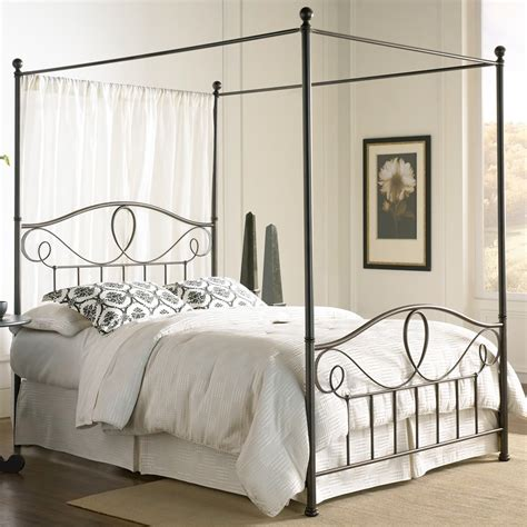 wrought iron canopy bed frame sylvania iron canopy bed in roast humble abode