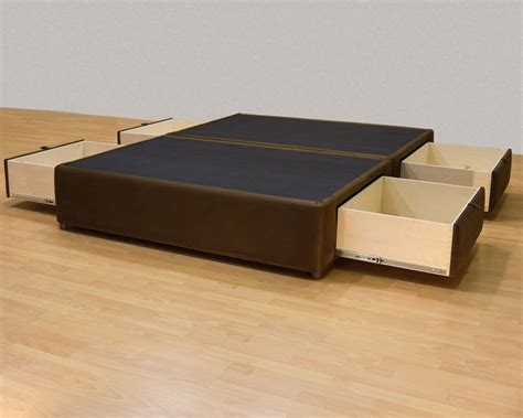 king bed platform frame king platform bed with storage drawers uphostered storage