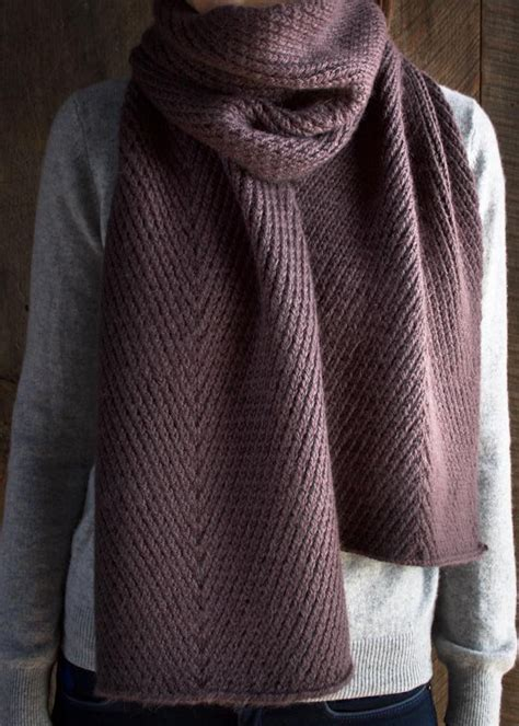 how is a knitted scarf diagonal twist scarf purl soho