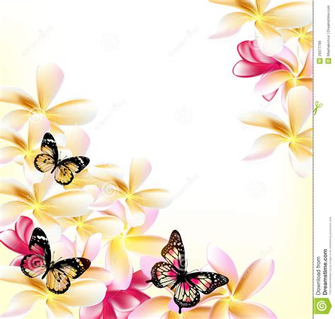 light vector floral background with gardenia flowers and