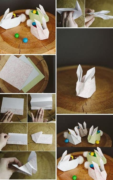do it yourself paper crafts how to fold paper craft origami bunny step by step diy