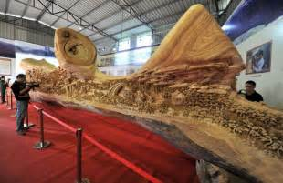 this is the world s longest wood carving it was made from