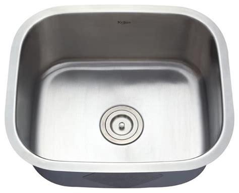one bowl kitchen sink kraus kbu11 20 inch undermount single bowl 16