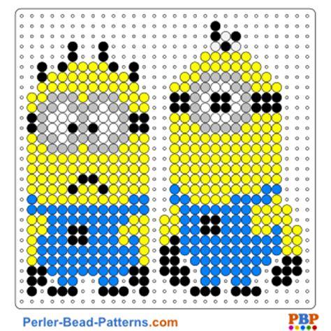 hama bead template printable minion perler bead patterns u create