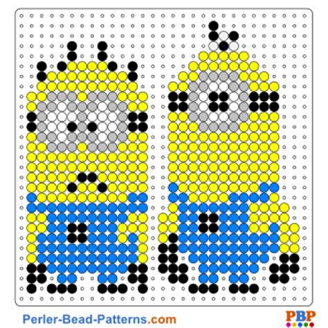 perler patterns printables minion perler bead patterns u create
