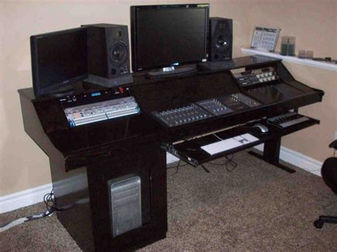 recording studio computer desk diy studio desk home furniture design
