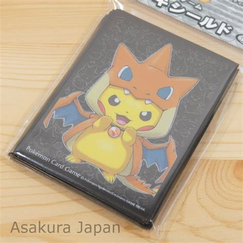 how to make card sleeves center card sleeve mega tokyo charizard y pikachu