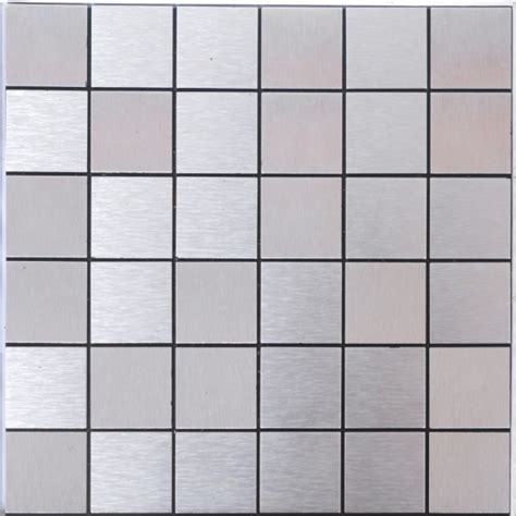 Kitchen Wall Murals silver alucobond tile brushed aluminum mosaic brick acp
