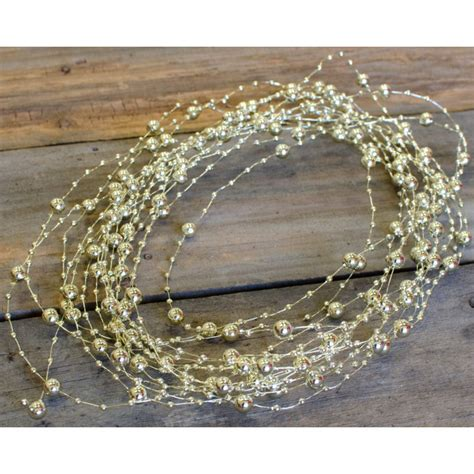 beaded wire garland beaded wire garland 10 yards gold bd201 27