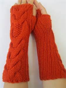 knit warmers owl knit arm warmers wrist warmers knit mittens