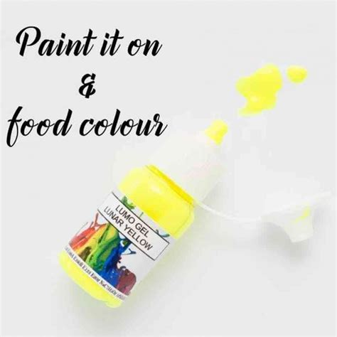 glow in the paint edible rolkem lunar yellow purple lumo sugarcraft edible cake