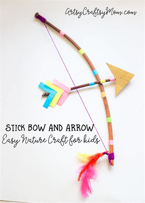 bow and arrow craft for stick bow and arrow craft for artsy craftsy