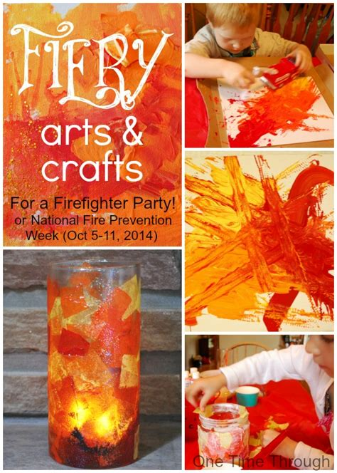firefighter crafts for firefighter birthday fiery arts and crafts one