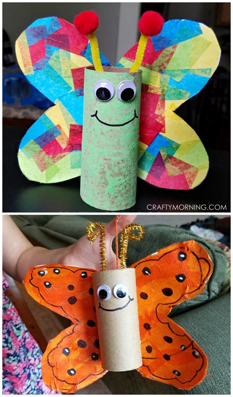 crafts made from paper towel rolls cardboard butterfly craft for to make