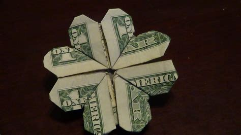 dollar origami dollar origami shamrock tutorial how to make a dollar