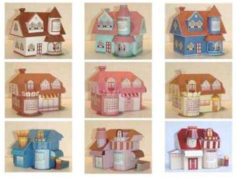 3d paper crafts templates 3d house template