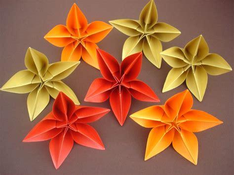 origami flower carambola origami carambola sprung origami flowers