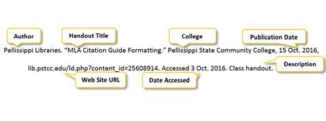 mla citation format generator 2013