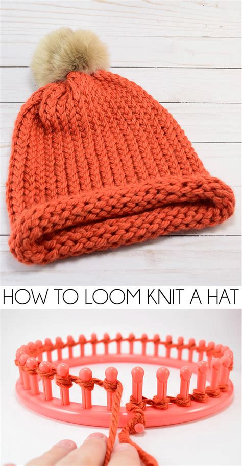 how to use loom knitting how to loom knit a cap e wrap method a bigger