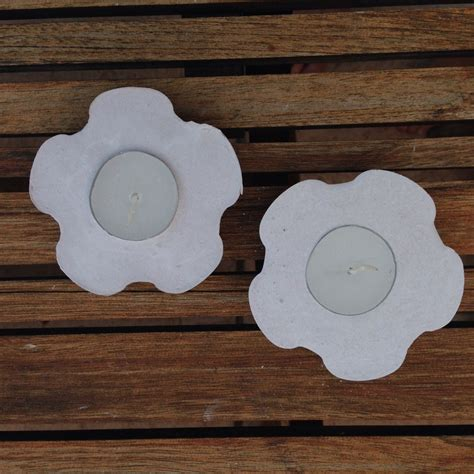 plaster of crafts for flower shaped plaster candle holder my kid craft