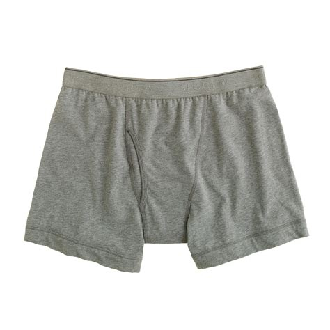 J Crew Knit Boxer Briefs In Gray For Hthr Graphite