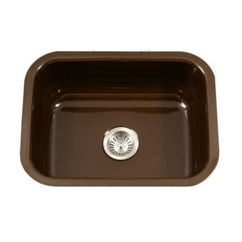 porcelain undermount kitchen sinks houzer porcela series undermount porcelain enamel steel 23
