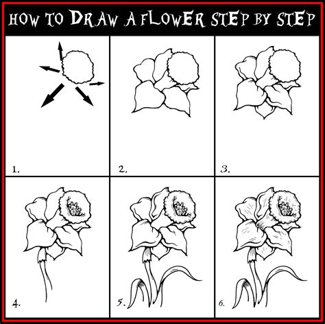 how to draw guide daryl hobson artwork how to draw a flower step by step