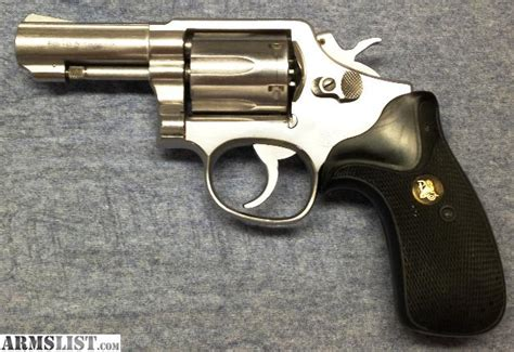 smith rubber st smith and wesson model 65 3 stainless steel 357 magnum in