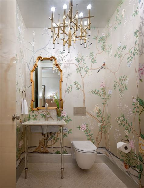 designer bathroom wallpaper bathroom decorating ideas for a small yet stylish design