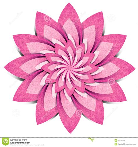 craft flower paper flower origami recycled paper craft stock illustration