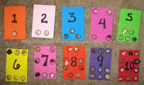 number craft for number boards learning to count artsy momma