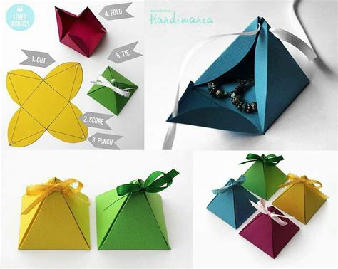 easy origami gift box origami box pyramid paper crafts diy and