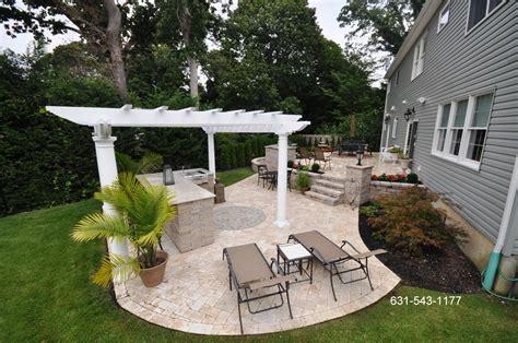 backyard patios designs travertine backyard patio bar island by gappsi gappsi