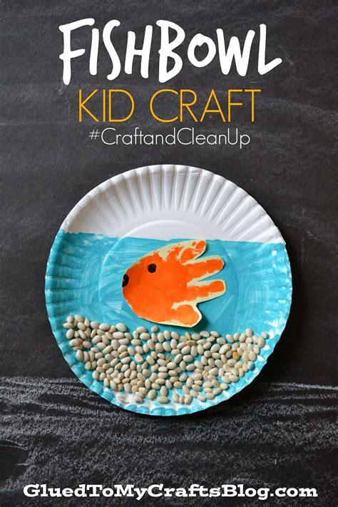 paper fish bowl craft fishbowl kid craft craftandcleanup