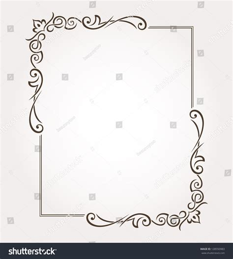 frame decorations calligraphic frame and page decoration vector
